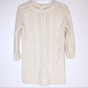 Baby Gap Cream Cable Knit Sweater Dress Girls 2T